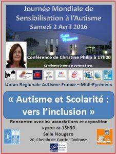 Journées de l'Autisme 2 avril 2016